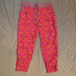 Aerie Pink Ikat Pajama Pants EUC Size L